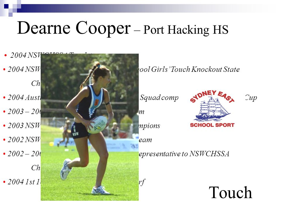 Dearne Cooper – Port Hacking HS Touch