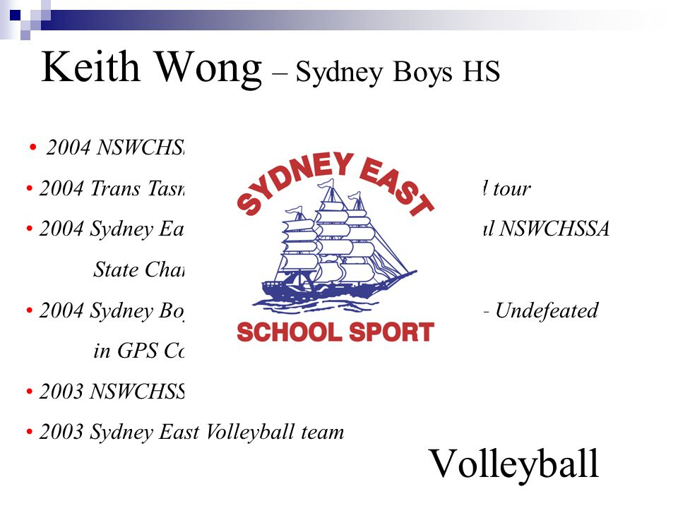 Keith Wong – Sydney Boys HS Volleyball