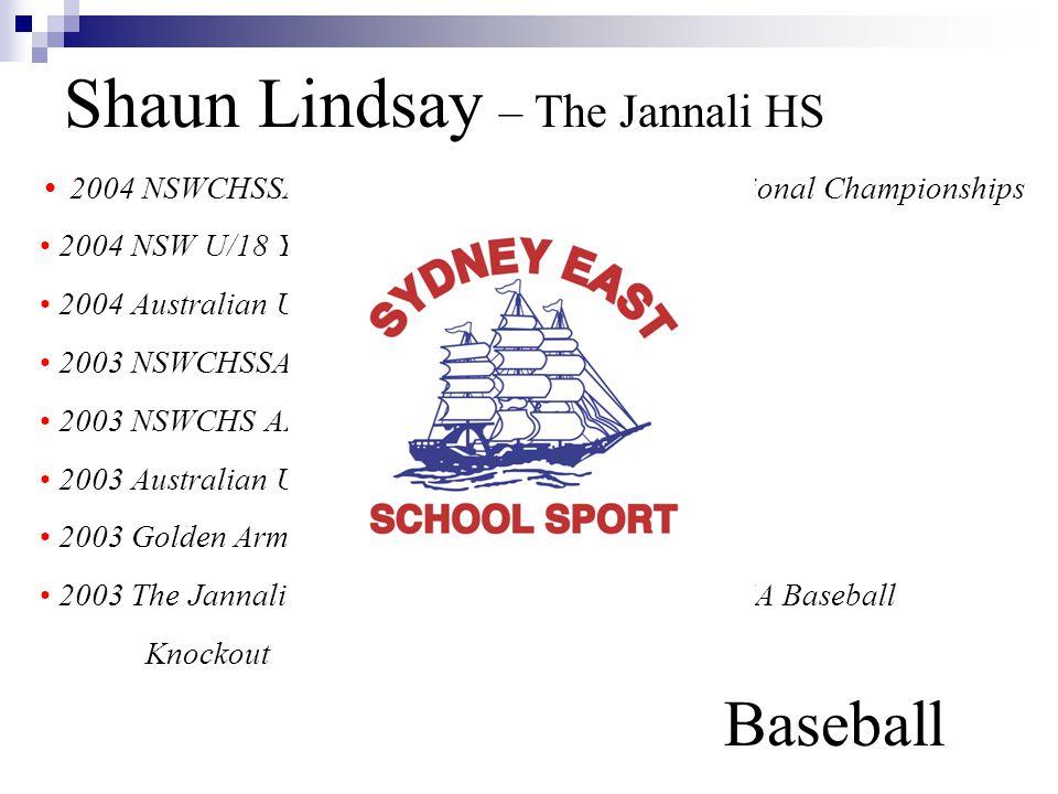 Shaun Lindsay – The Jannali HS Baseball