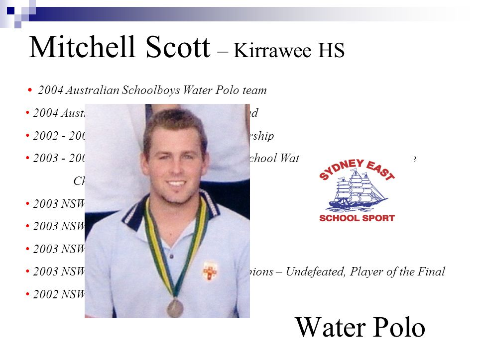 Mitchell Scott – Kirrawee HS Water Polo