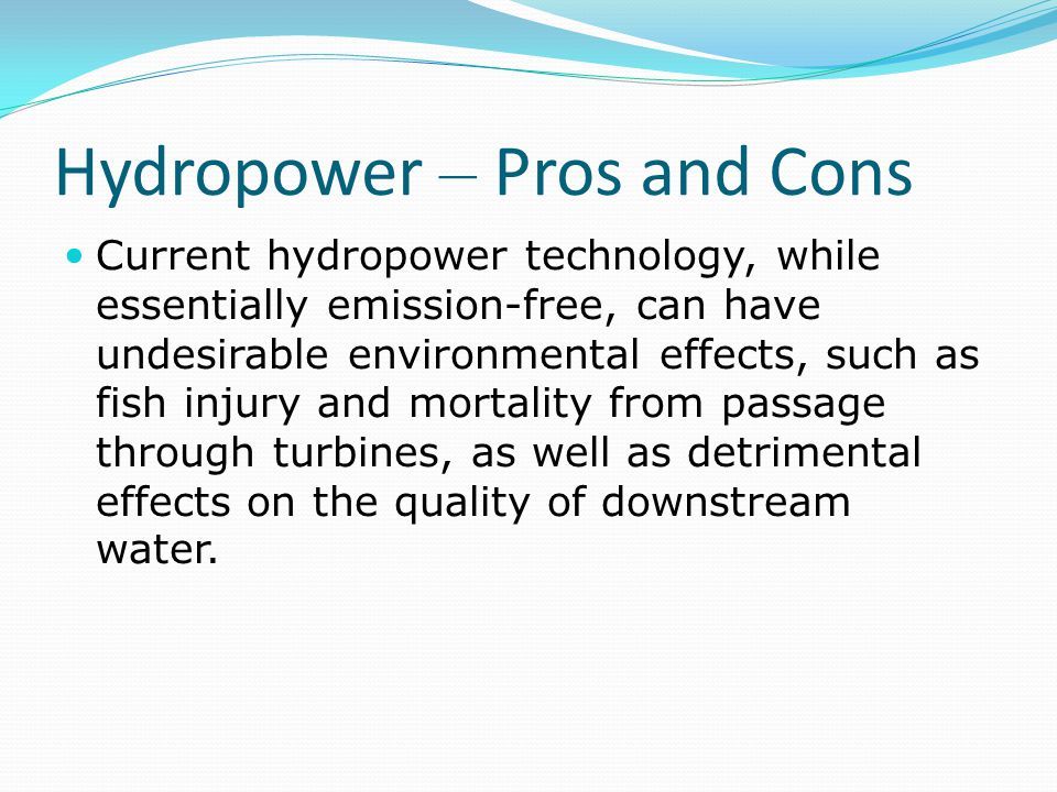 Hydropower – Pros and Cons