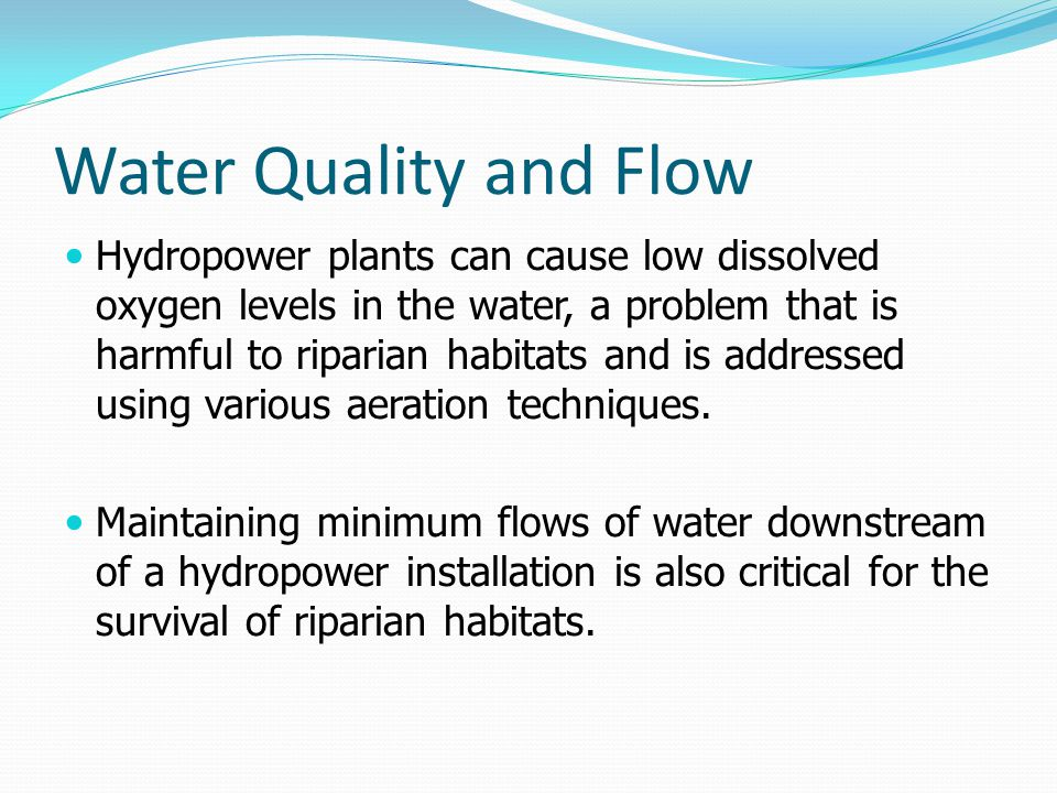 Water Quality and Flow