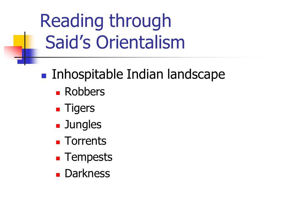 Reading through Said's Orientalism