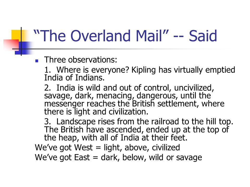 The Overland Mail -- Said