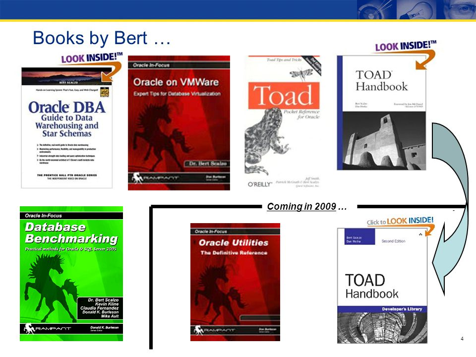 Books by Bert … Coming in 2009 … 4