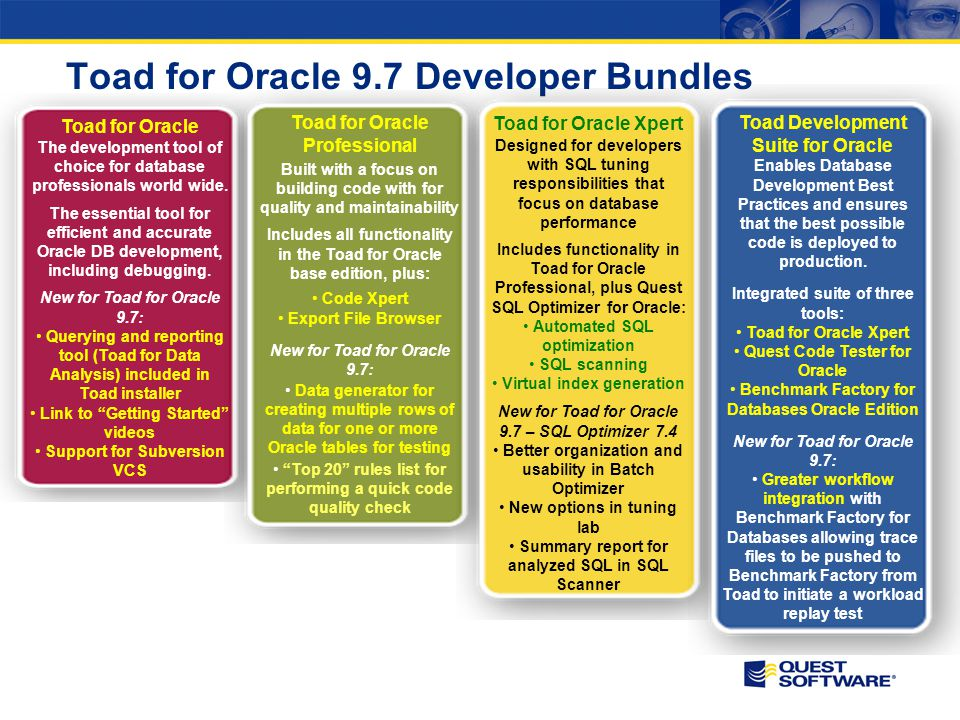 Toad for Oracle 9.7 Developer Bundles