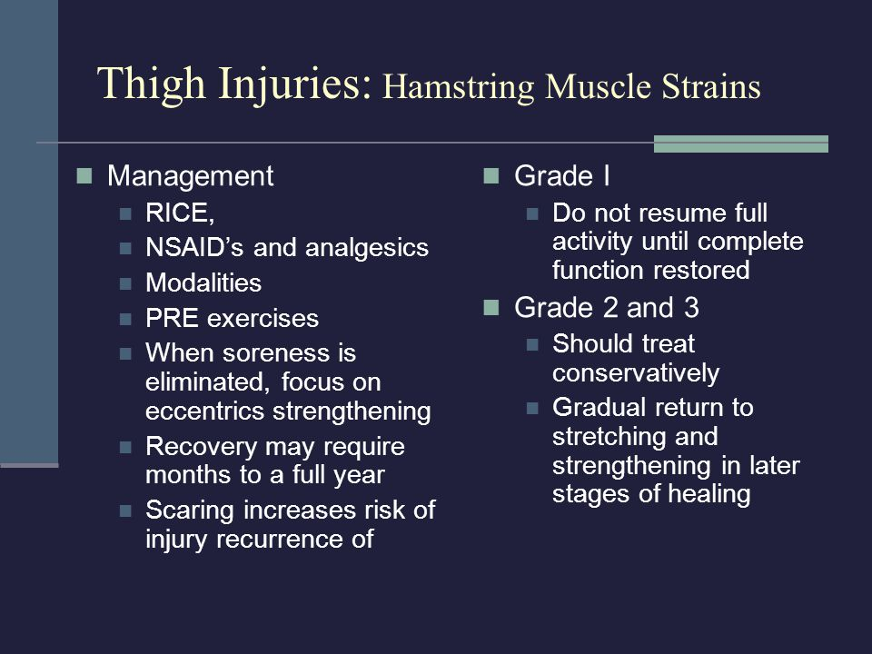 Thigh Injuries: Hamstring Muscle Strains