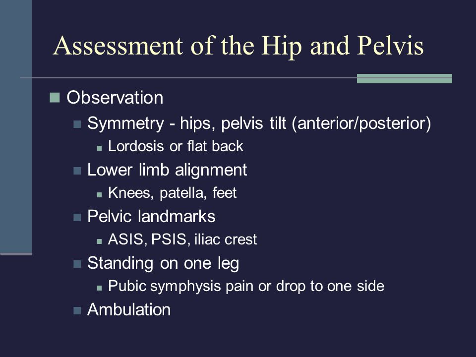 Assessment of the Hip and Pelvis