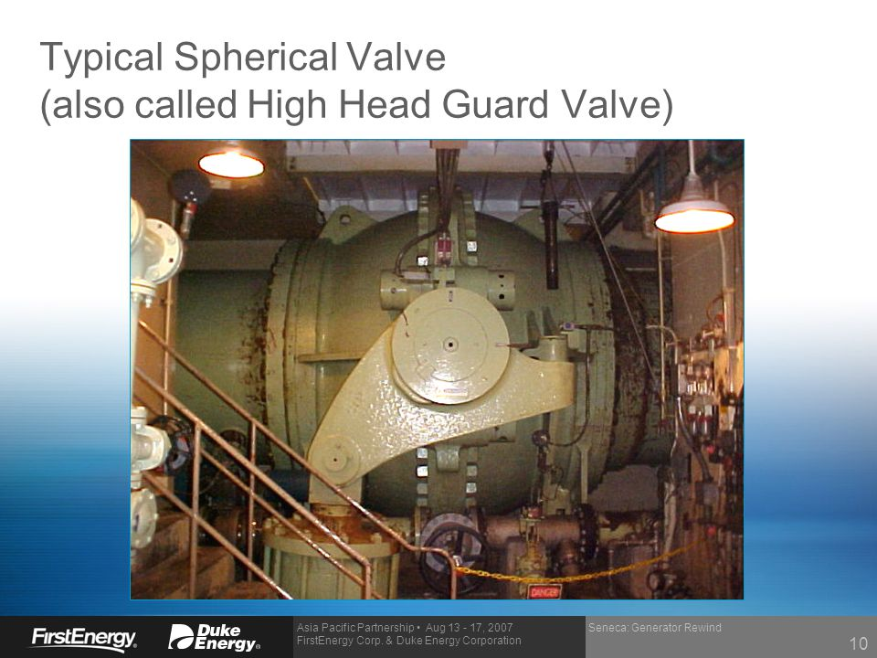 Typical Spherical Valve (also called High Head Guard Valve)