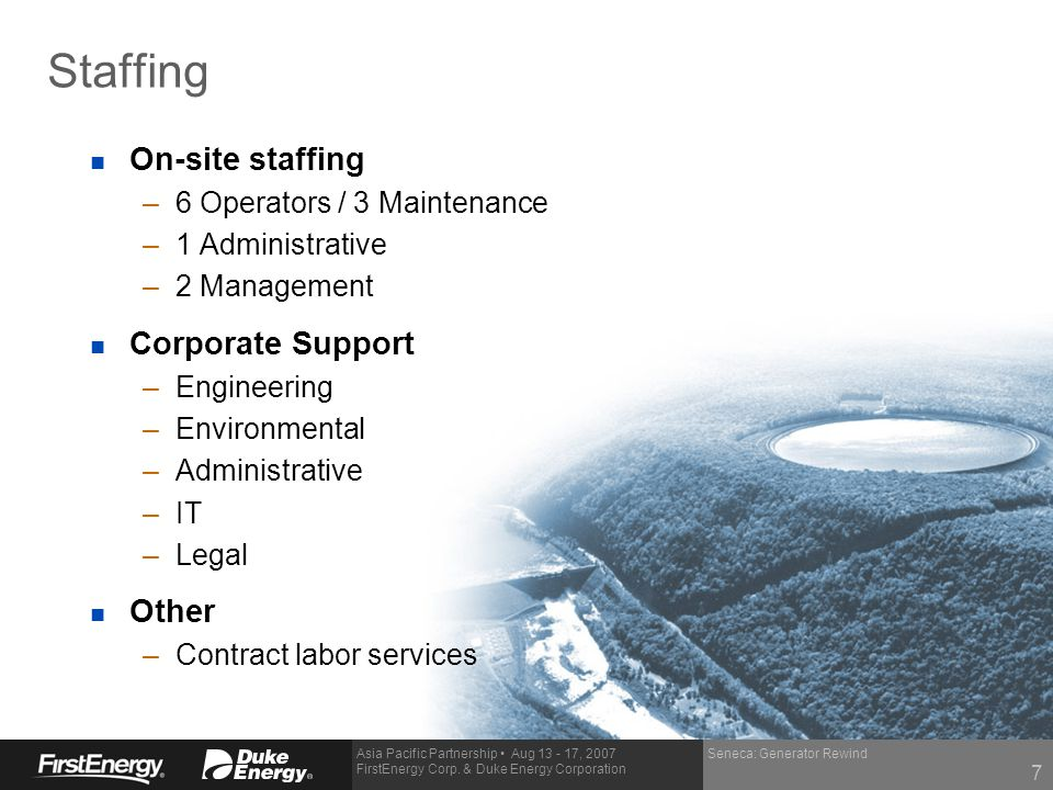 Staffing On-site staffing Corporate Support Other