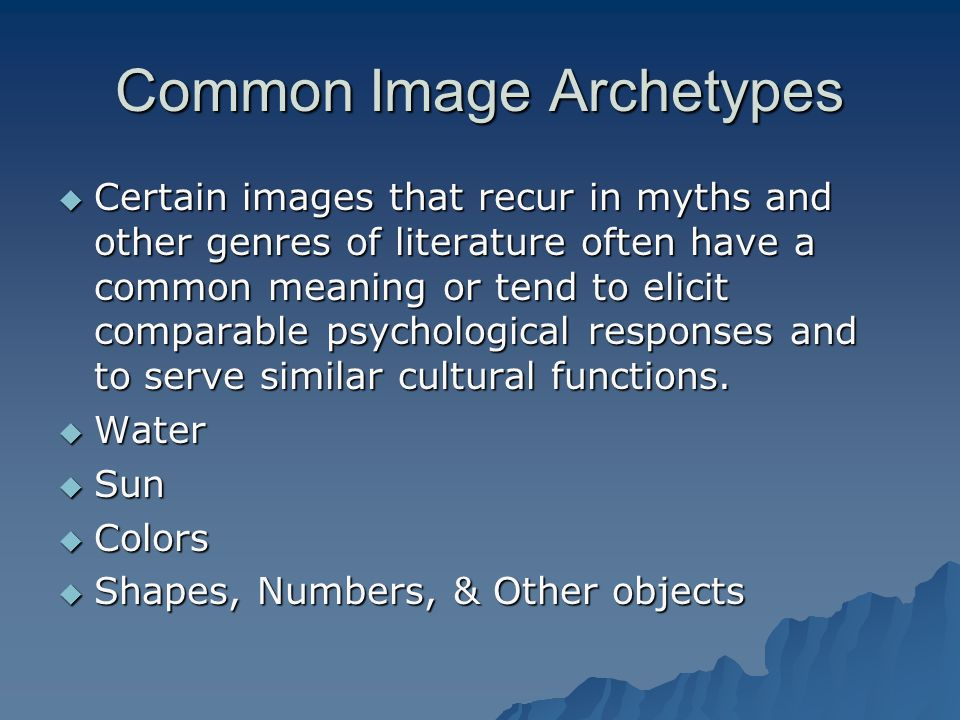 Common Image Archetypes