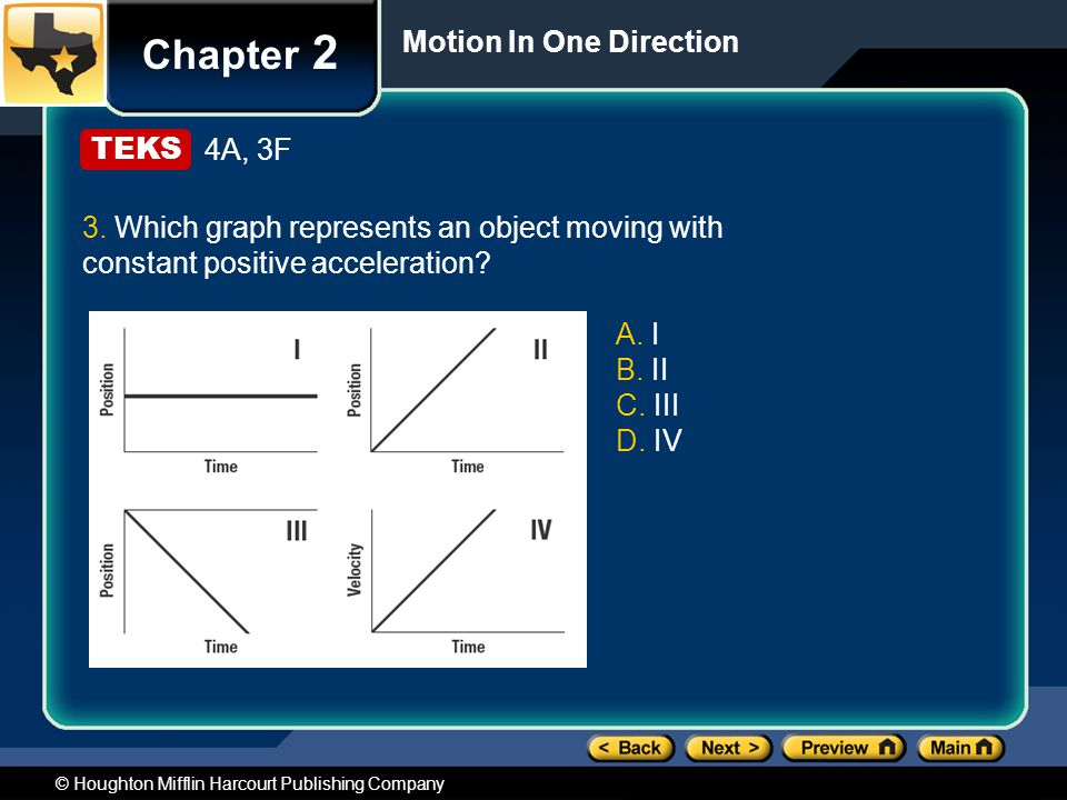 Chapter 2 Motion In One Direction 4A, 3F