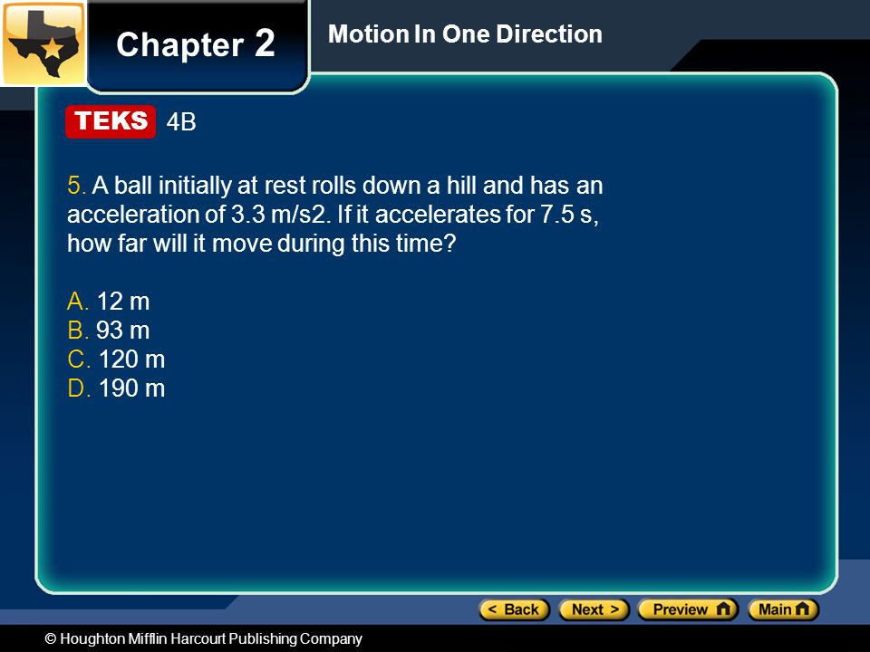 Chapter 2 Motion In One Direction 4B
