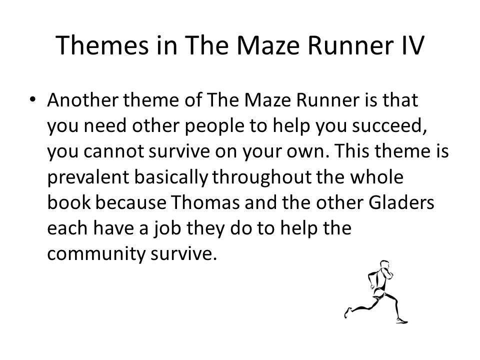 the maze runner essay Get our parent book review on the maze runner trilogy, by james dashner  find out why teenage boys and girls, as well as parents, will.