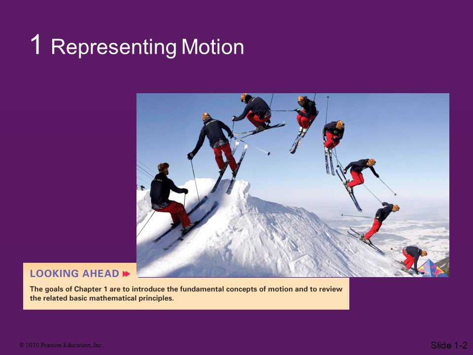 1 Representing Motion Slide 1-2