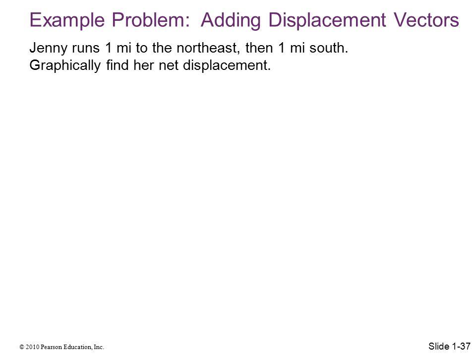 Example Problem: Adding Displacement Vectors