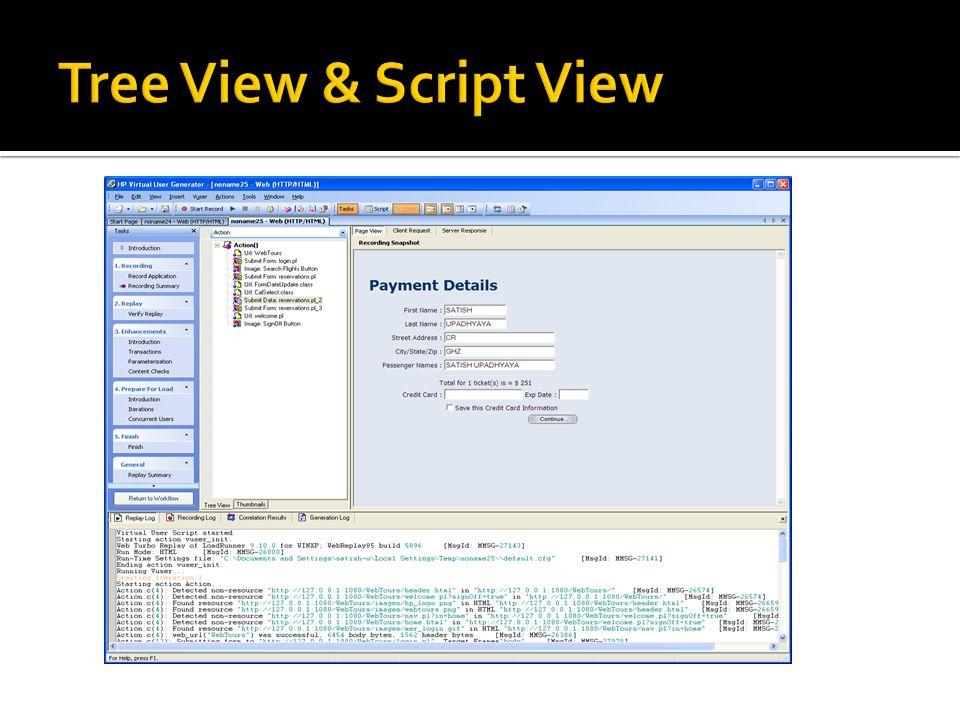 Tree View & Script View