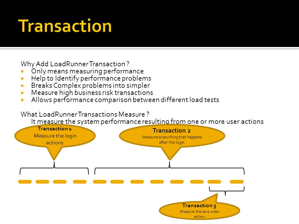Transaction Why Add LoadRunner Transaction