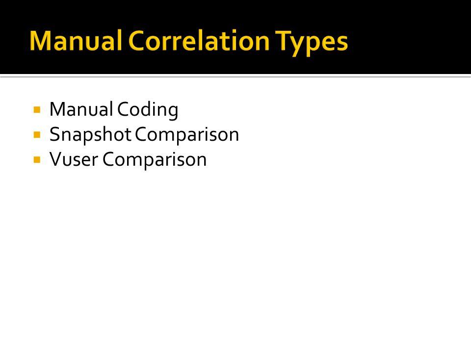 Manual Correlation Types