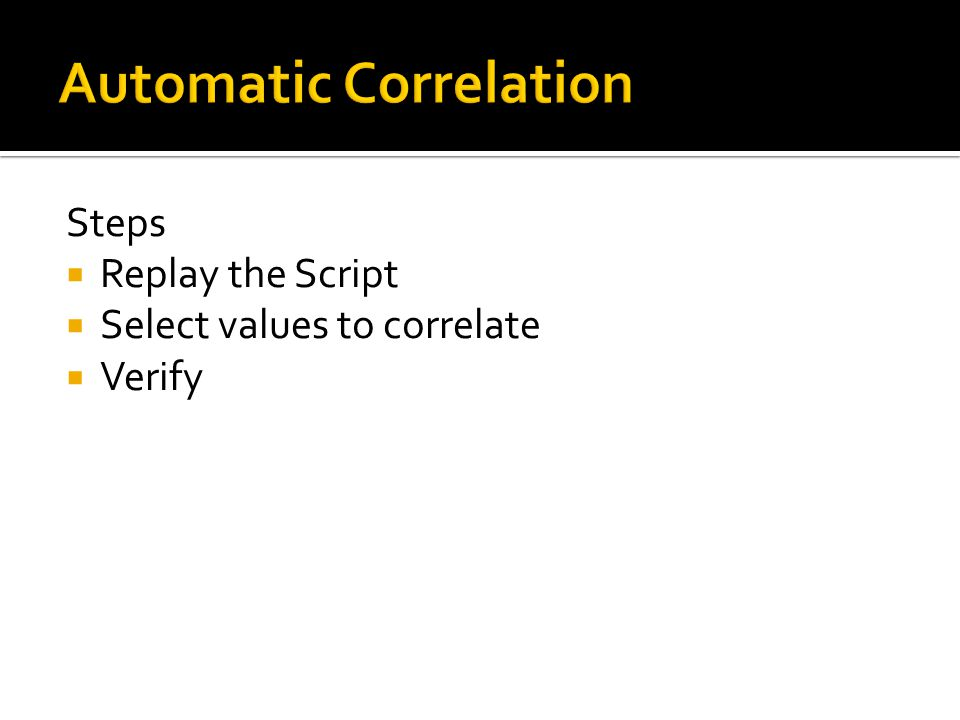 Automatic Correlation