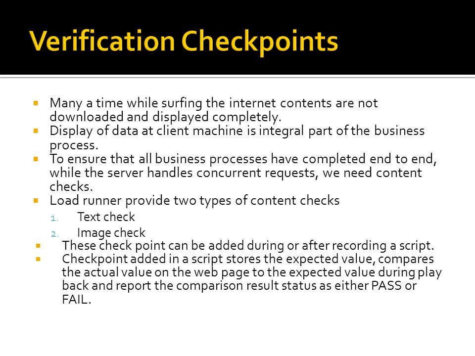 Verification Checkpoints