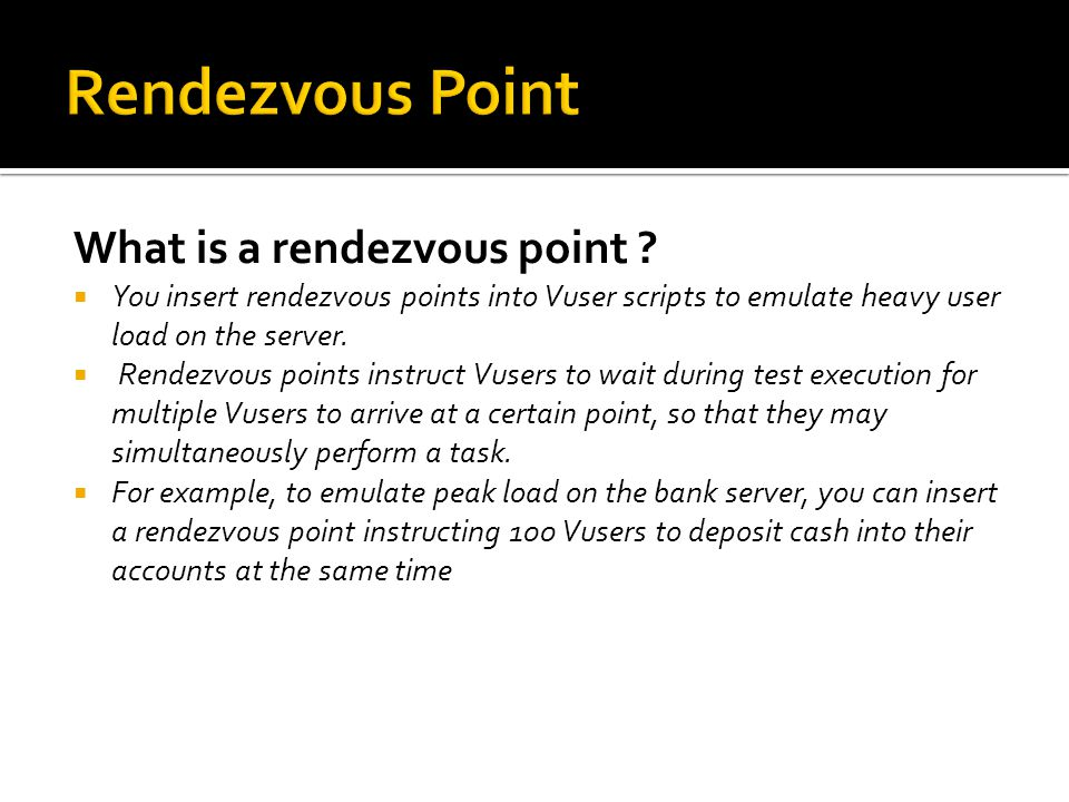 Rendezvous Point What is a rendezvous point