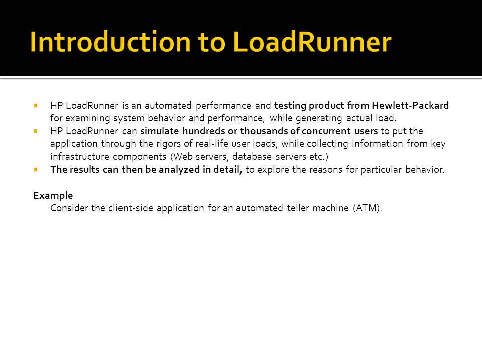 Introduction to LoadRunner