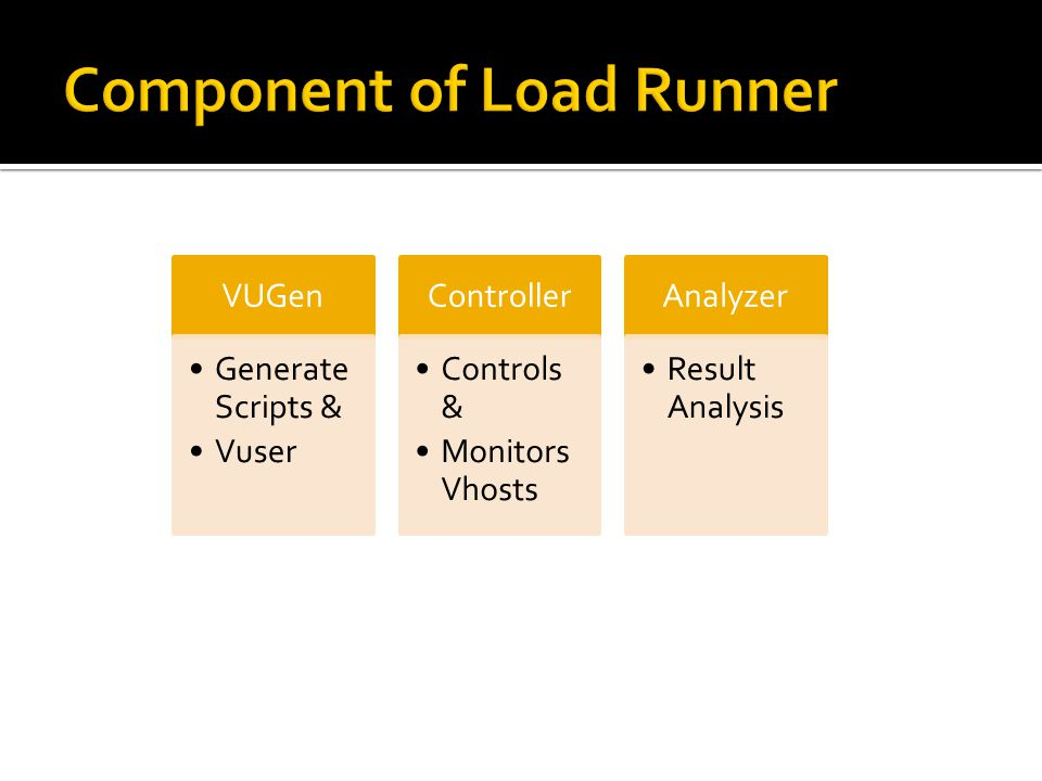 Component of Load Runner