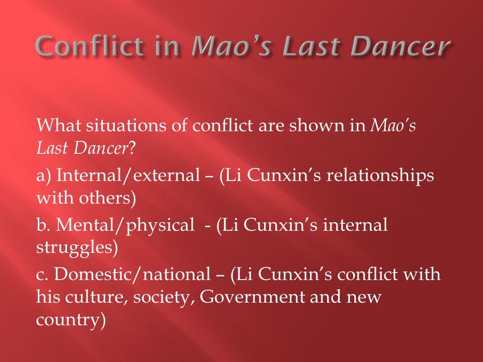 Conflict in Mao's Last Dancer