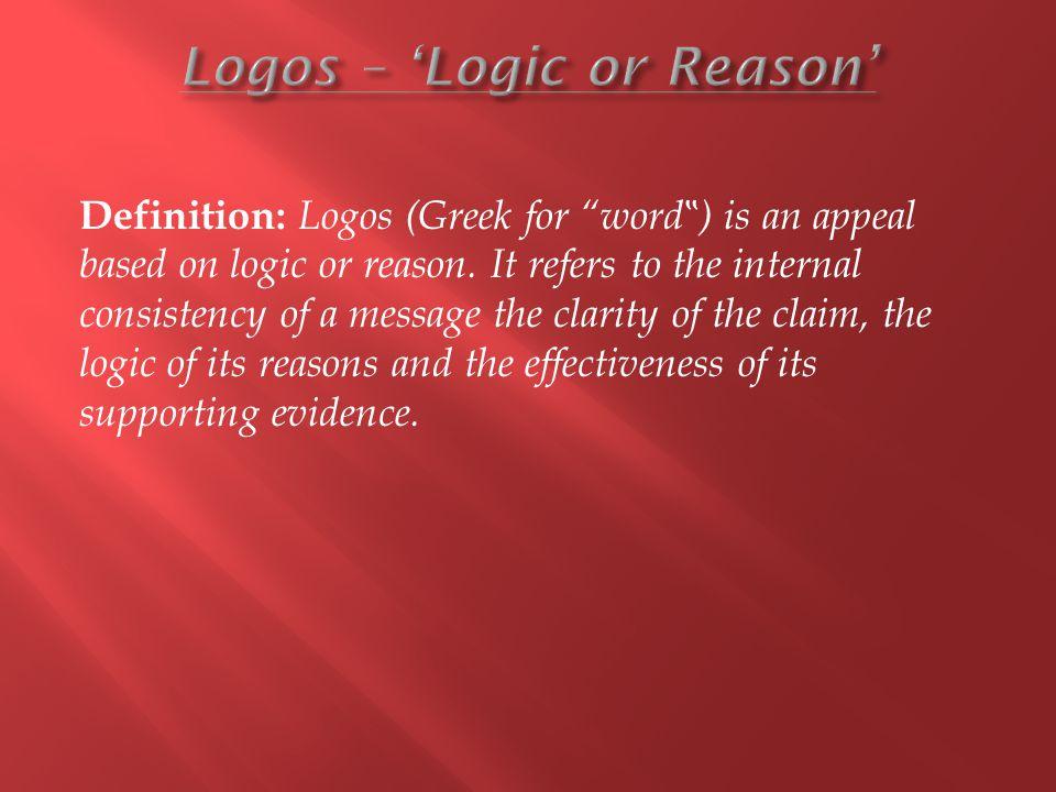 Logos – 'Logic or Reason'