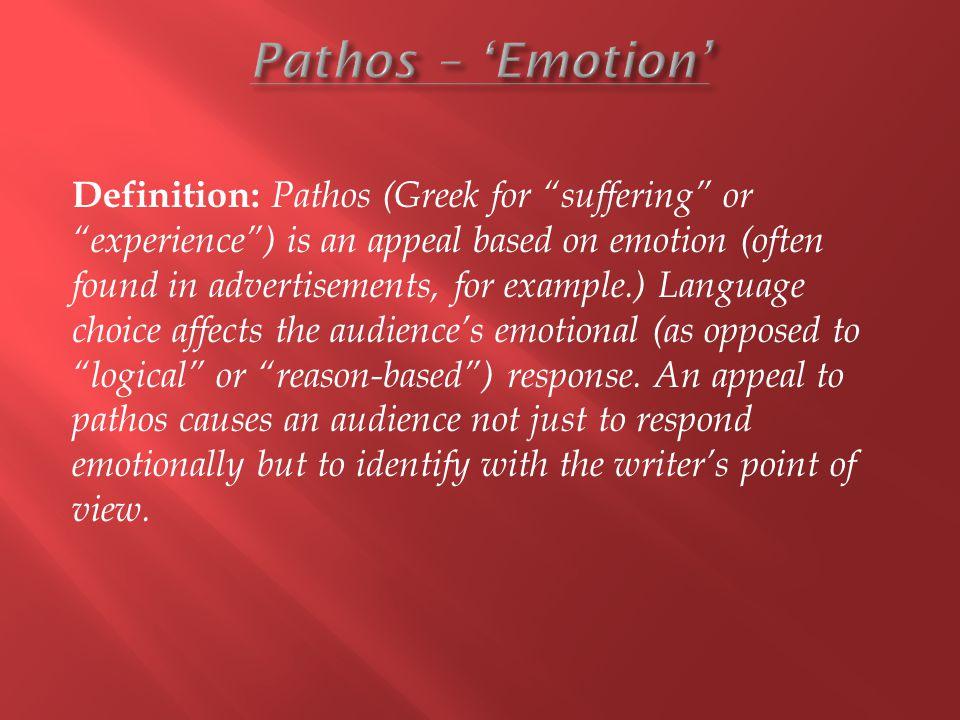 Pathos – 'Emotion'