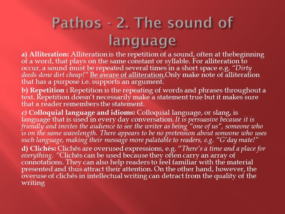 Pathos - 2. The sound of language