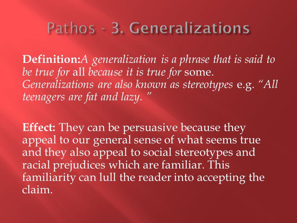 Pathos - 3. Generalizations