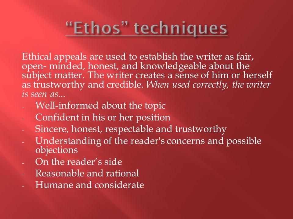 Ethos techniques