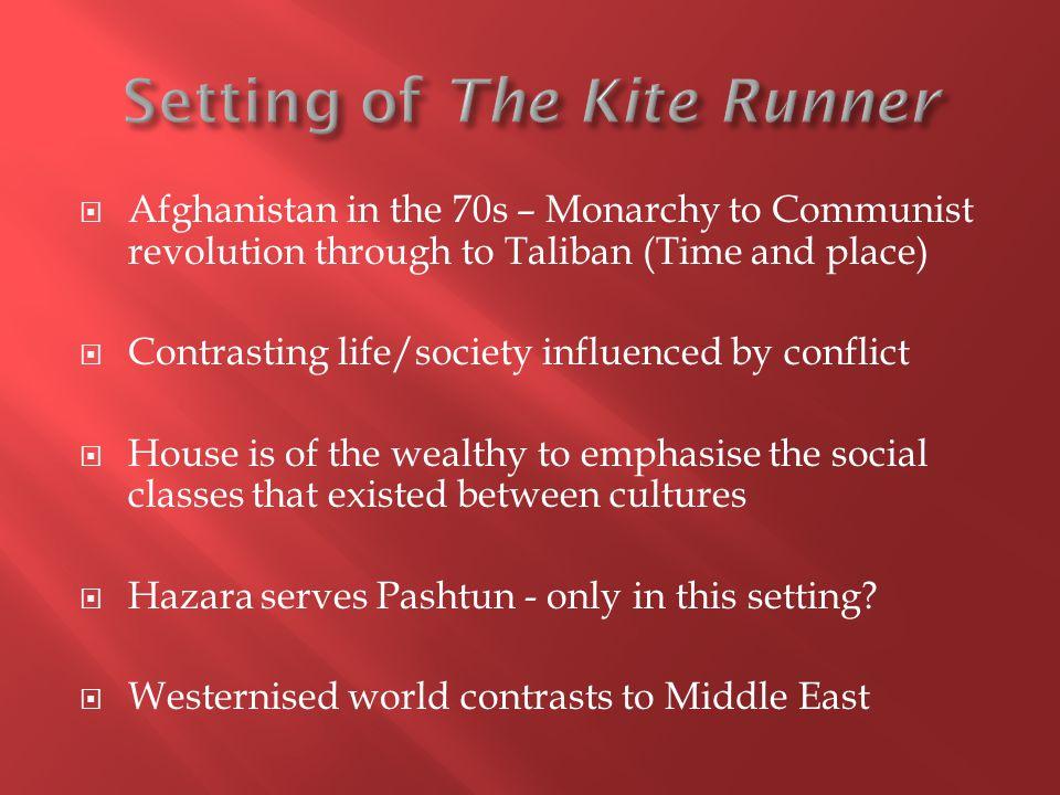 Setting of The Kite Runner