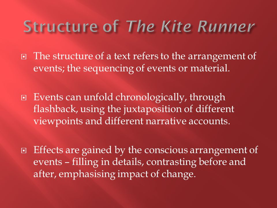 Structure of The Kite Runner