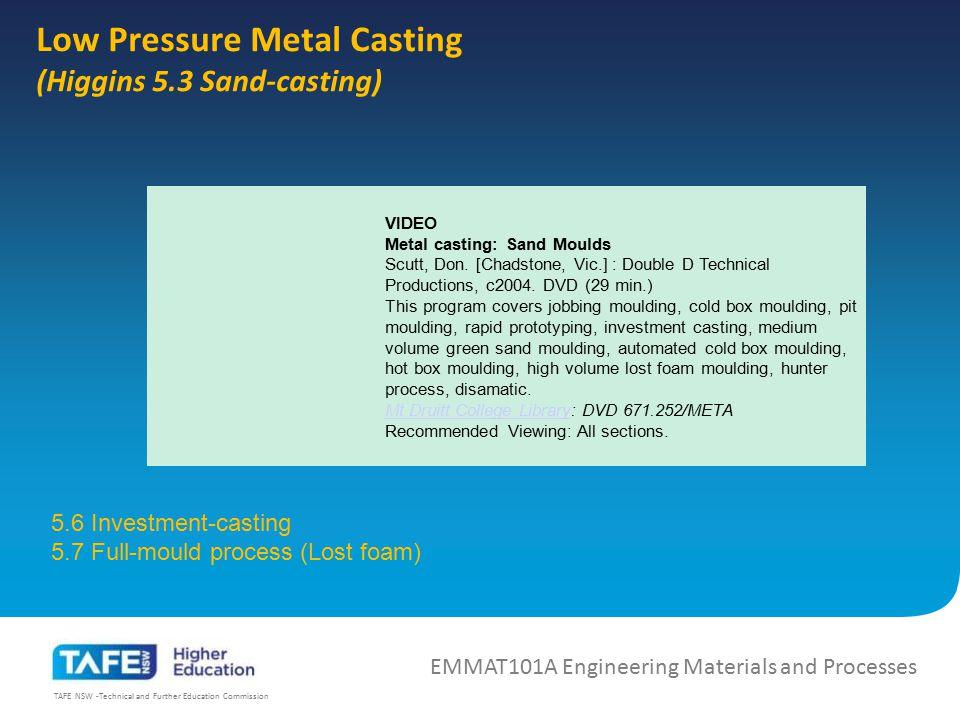 Low Pressure Metal Casting