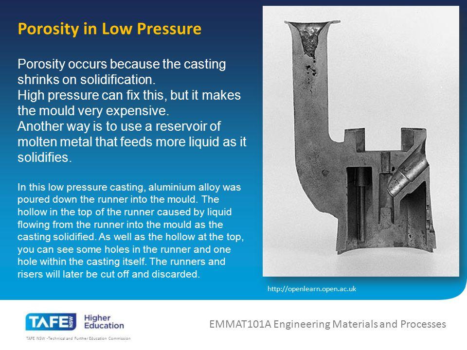 Porosity in Low Pressure