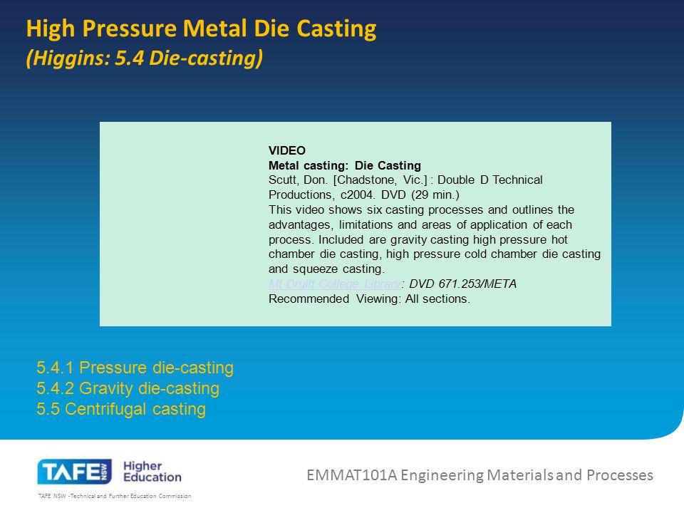 High Pressure Metal Die Casting
