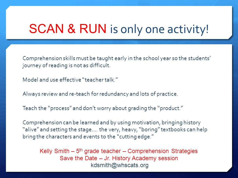 SCAN & RUN is only one activity!