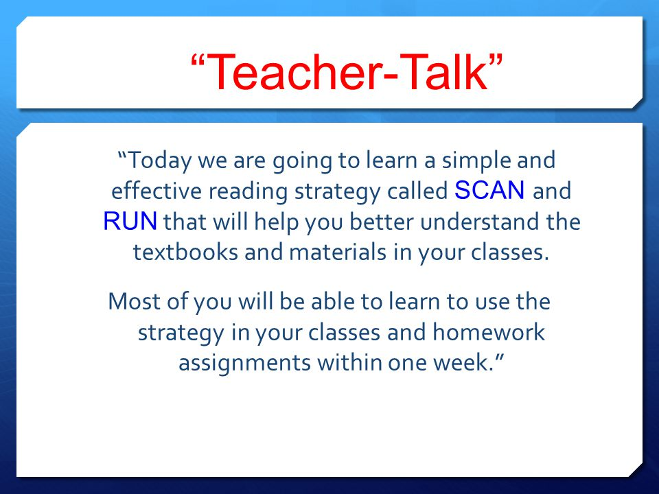 Teacher-Talk