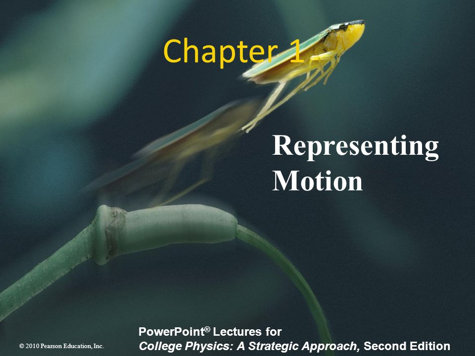 Chapter 1 Representing Motion