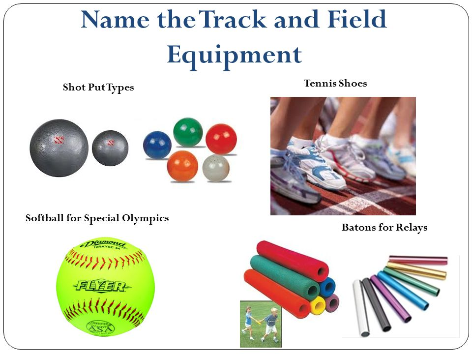 Name the Track and Field Equipment