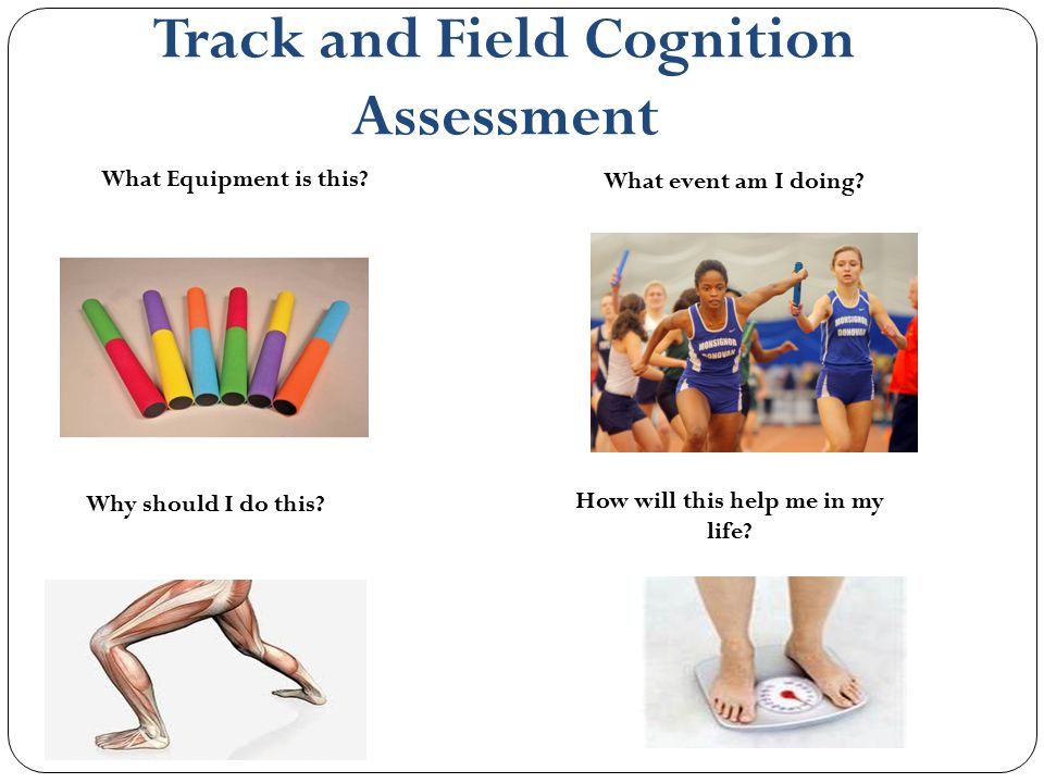 Track and Field Cognition Assessment How will this help me in my