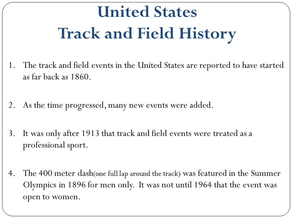 United States Track and Field History