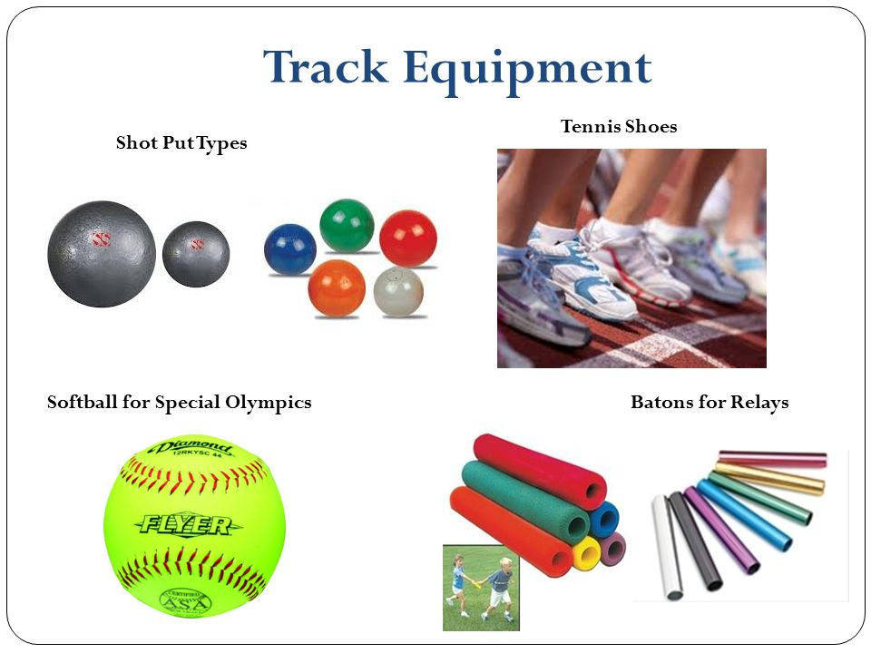 Track Equipment Tennis Shoes Shot Put Types