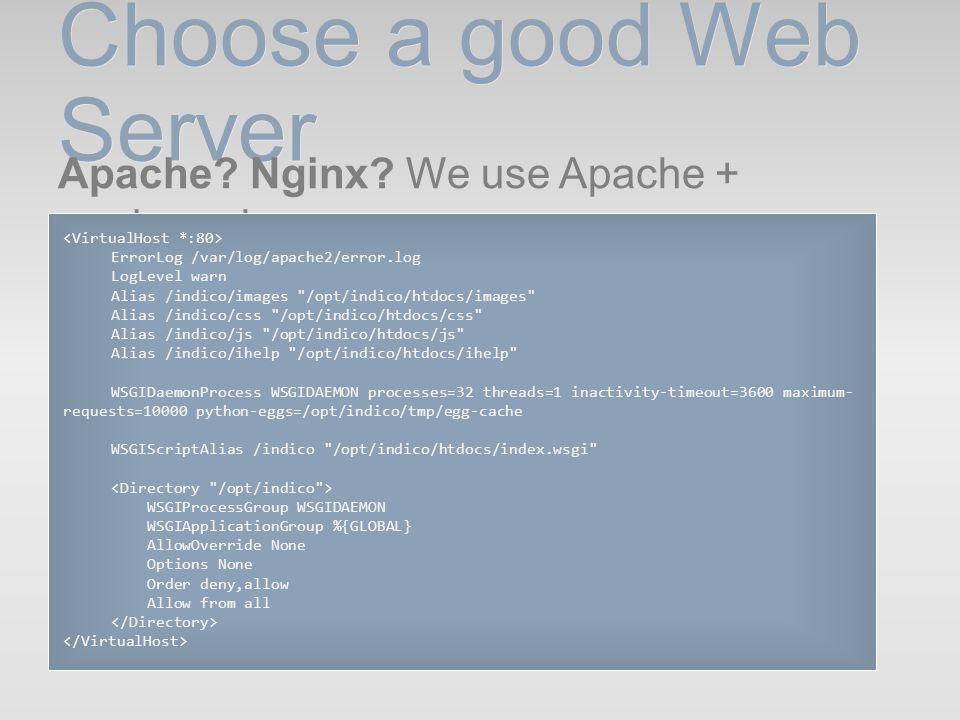 Choose a good Web Server