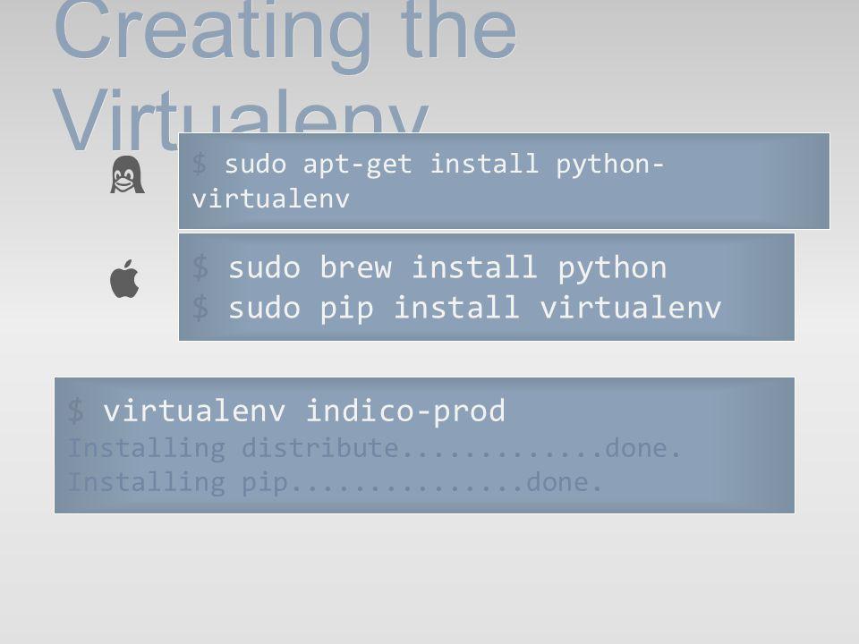 Creating the Virtualenv