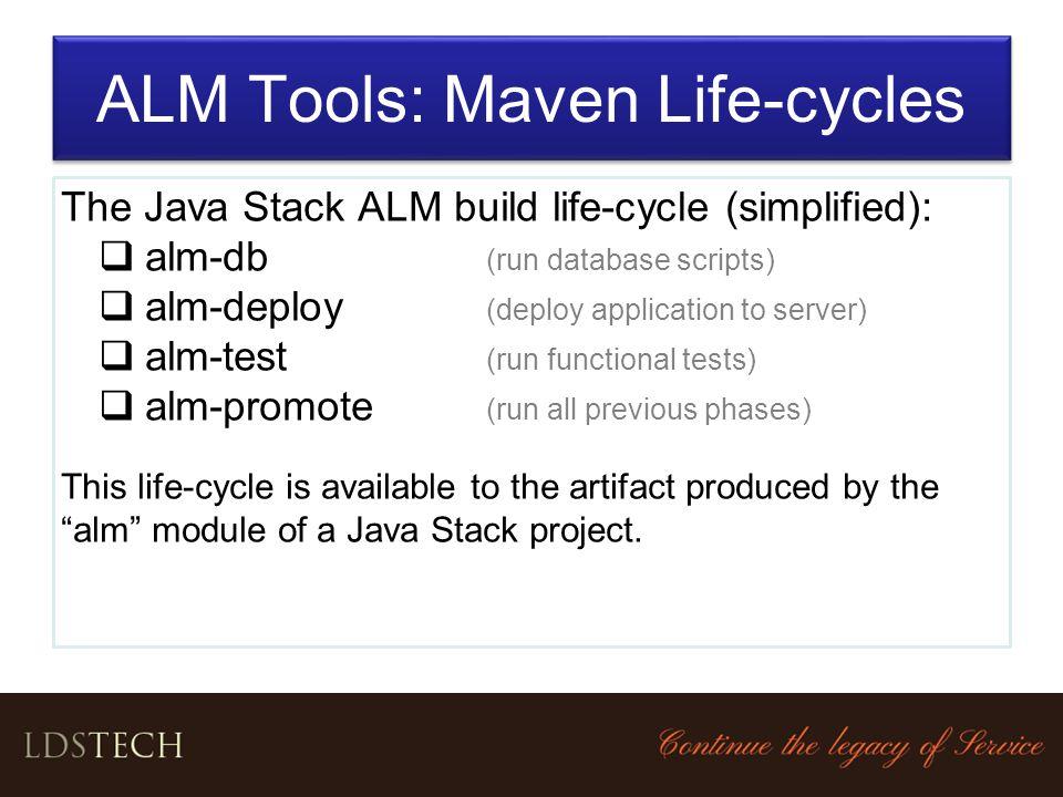ALM Tools: Maven Life-cycles