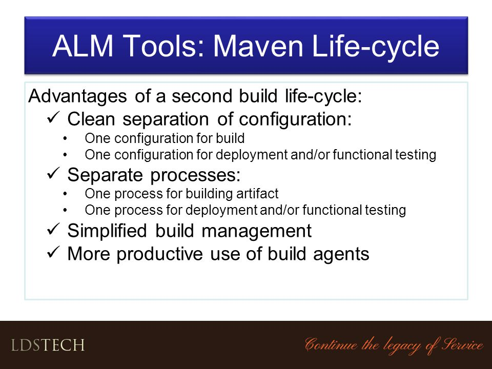 ALM Tools: Maven Life-cycle